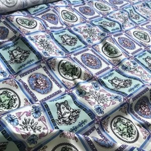 Versace Cotton Medusa Fabric Inkjet Print on Cotton,Italian Designer Cotton Fabric