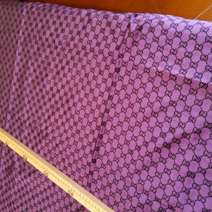 Gucci Fabric in Purple Colour Sold by Lot,New Arrival,All colours in Stock/150/100cm