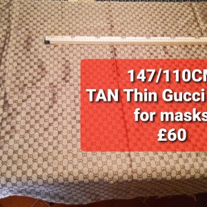 Gucci Fabric Thin,Soft,Double sided.Light Cream Colour.Price for lot of 147/110cm NEW ARRIVAL GUCCI JACQUARD