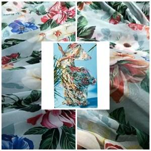 Gorgeous Silk Chiffon Fabric/Fashion week 2020 Silky Chiffon/DG Fabric