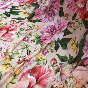 Dolce Gabbana chiffon fabric/Fashion week 2020DG fabric/New Collection Italian Couture fabric