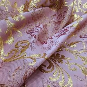 Dolce Gabbana jacquard Gold thread fabric/New Collection DG fabric/Italian Designer gold and silver yarn fabric
