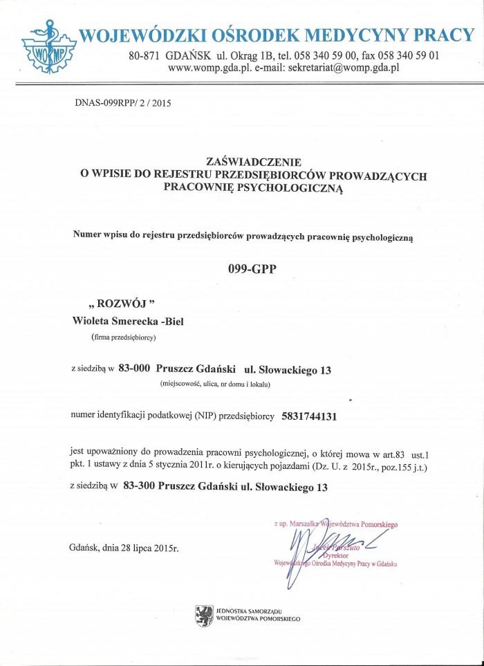 zdjęcie dokumentu uprawnienia