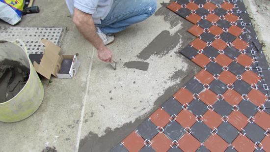 installing victorian tiles