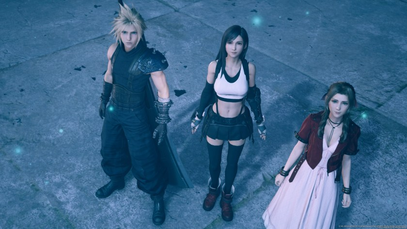 Cloud, Tifa, and Aerith