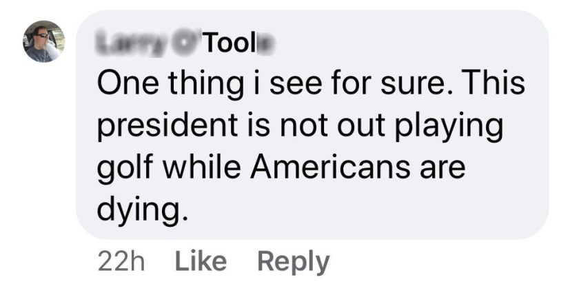 ignorant trump supporter Larry O'Fool