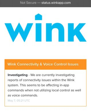 Wink Service Outage