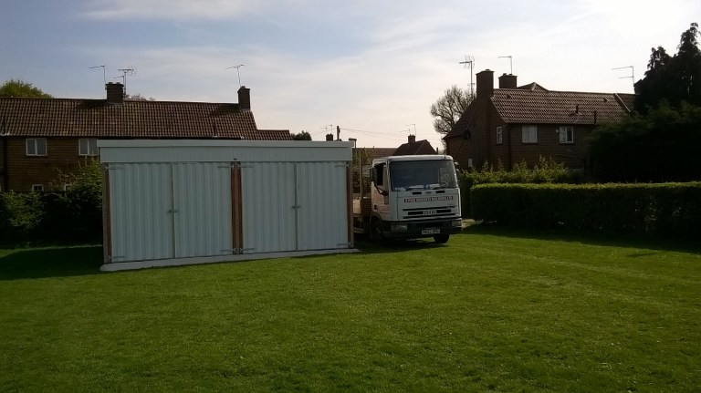 NEW LEAN TO BACK DOUBLE GARAGE PICTURE 2 768x431 - Double Garages