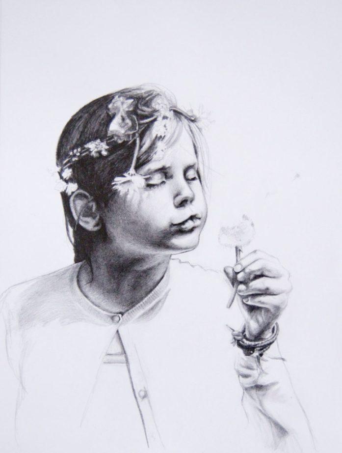 Portrait of Celeste, pencil on paper, 297x420 mm