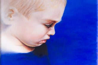 portrait of damiano small scale oil painting on canvas