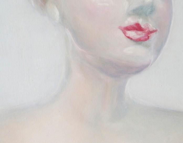porcelain figure study oil painting neck detail