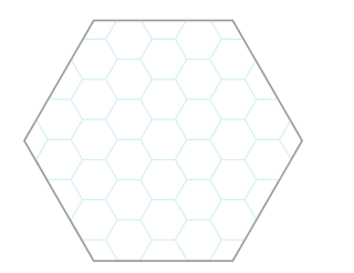 6-mile hex at 1 mile hex scale