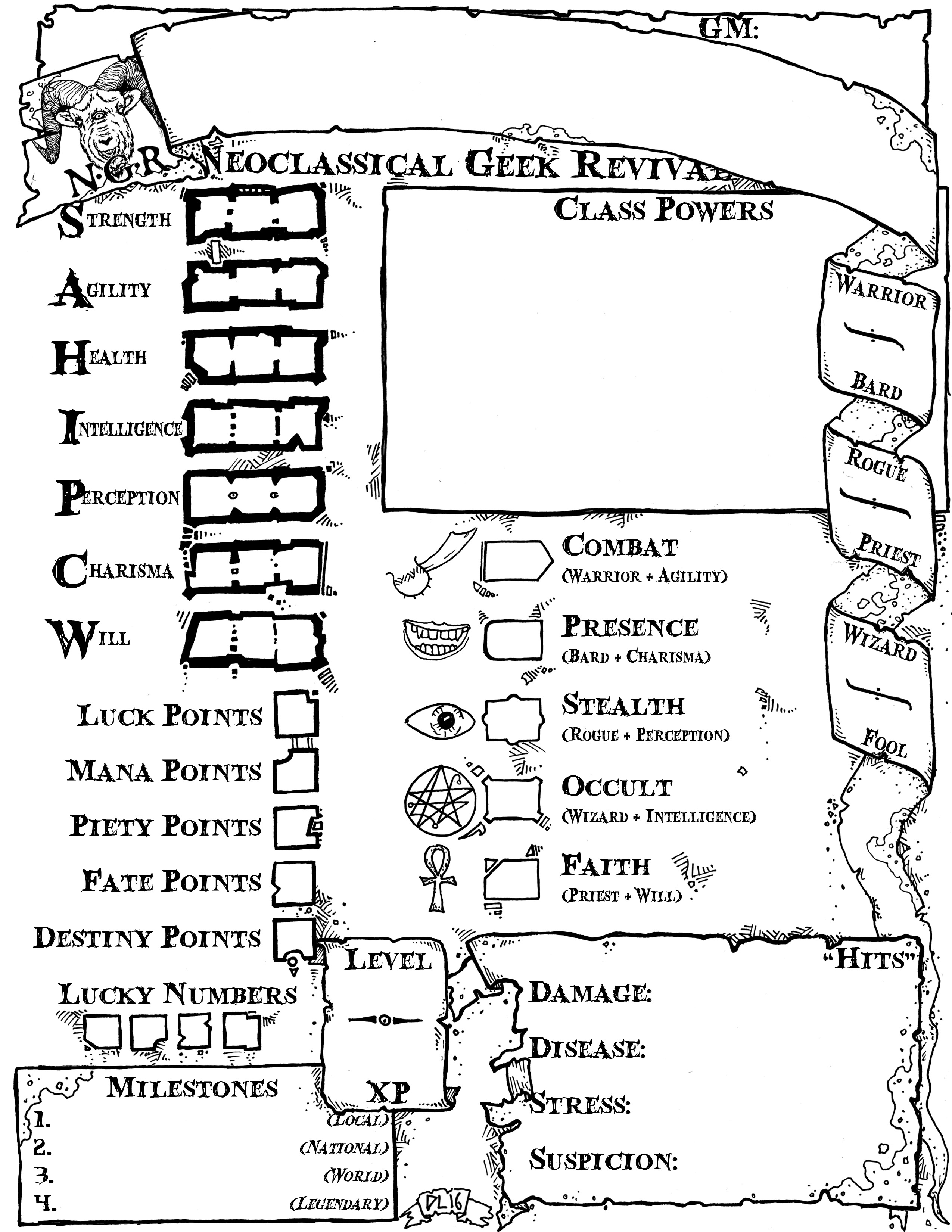 A New Neoclassical Geek Revival Sheet
