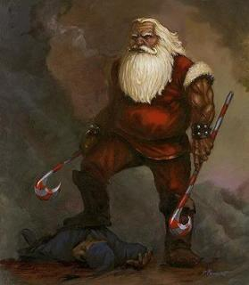 warrior-santa-claus