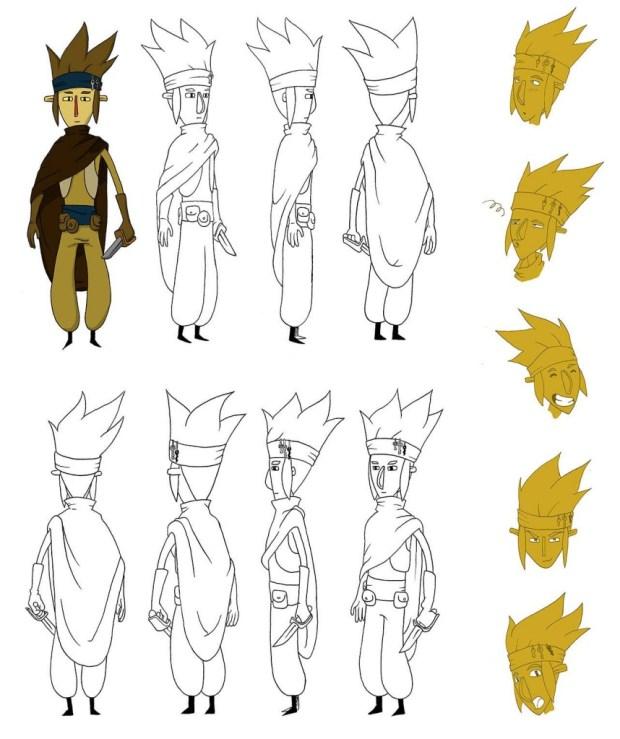 Um dos personagens que está sendo desenvolvido para a HQ-jogo (é, ele não tem uma paleta de cores definida ainda).