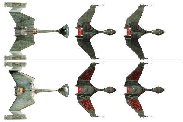 Algumas naves do Império Klingon