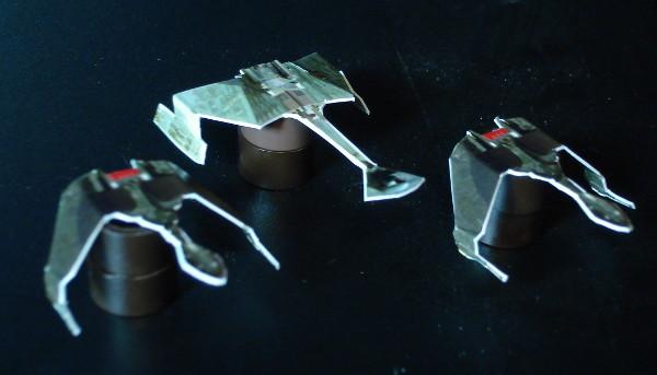 Naves Klingon montadas.