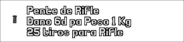 Ficha de munição de rifle.