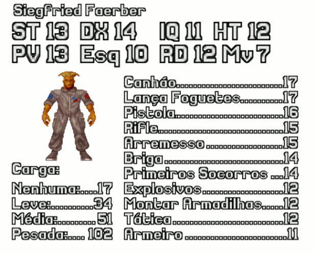 Ficha de Personagem de Soldado do X-COM
