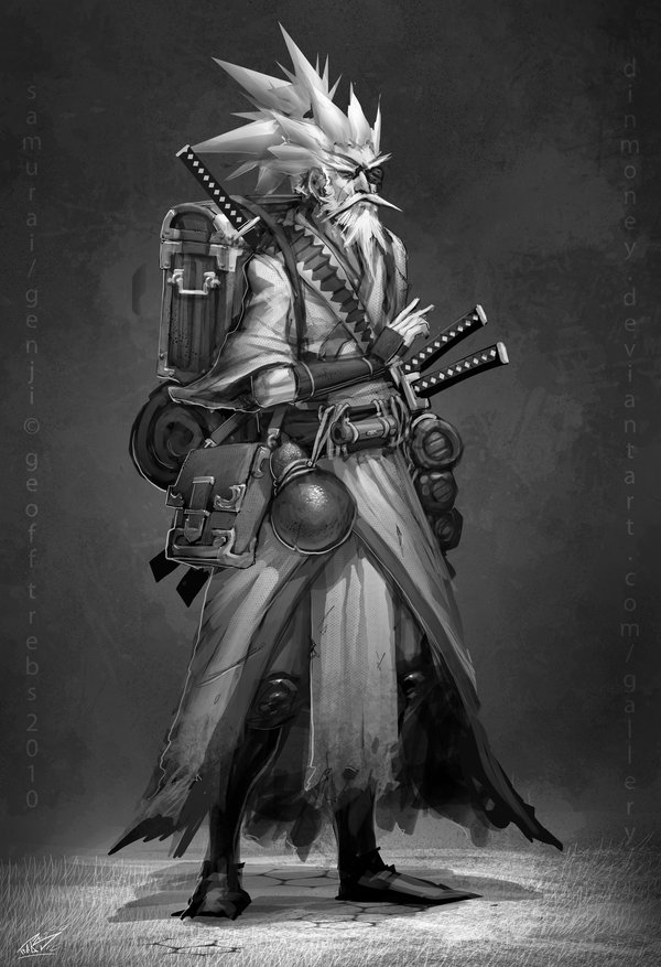 Fantasma de Yamadori, multiclasse de samurai/ninja