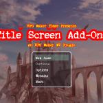 Title Screen Add-On RMMV Plugin