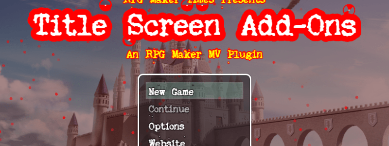 ֎ Title Screen Add-On Plugin