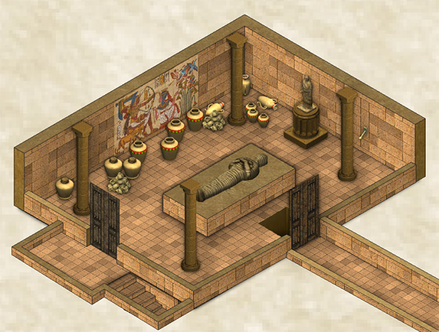 Egyptian Tomb by Shessar (with custom art)