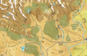 Wild West map by Dungeon Master Gaz