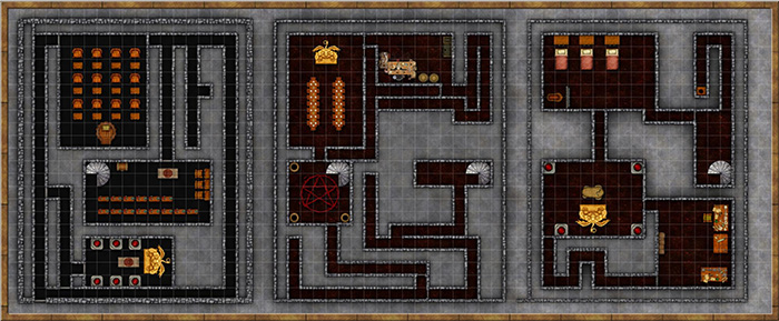 Three Level Dungeon by Madeline Ward