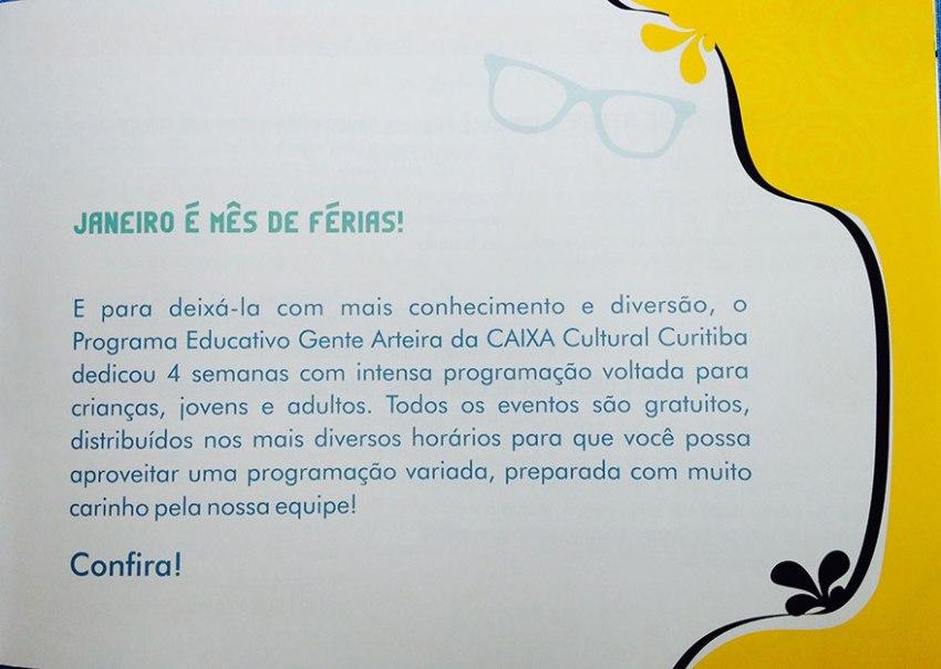 Apresentação Programação de Férias Caixa Cultural Curitiba