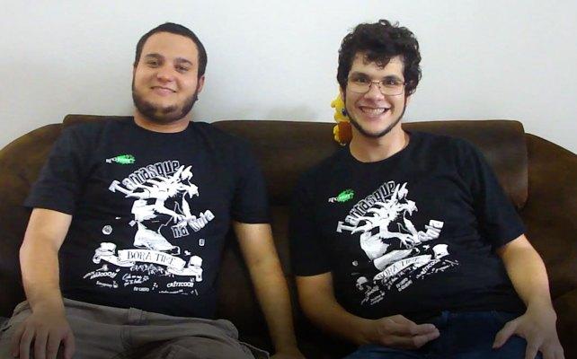 Gabriel Ramos e Bardo com Camiseta TnB