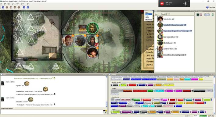 Imagem do Maptool - Explorando a Torre do Dragão