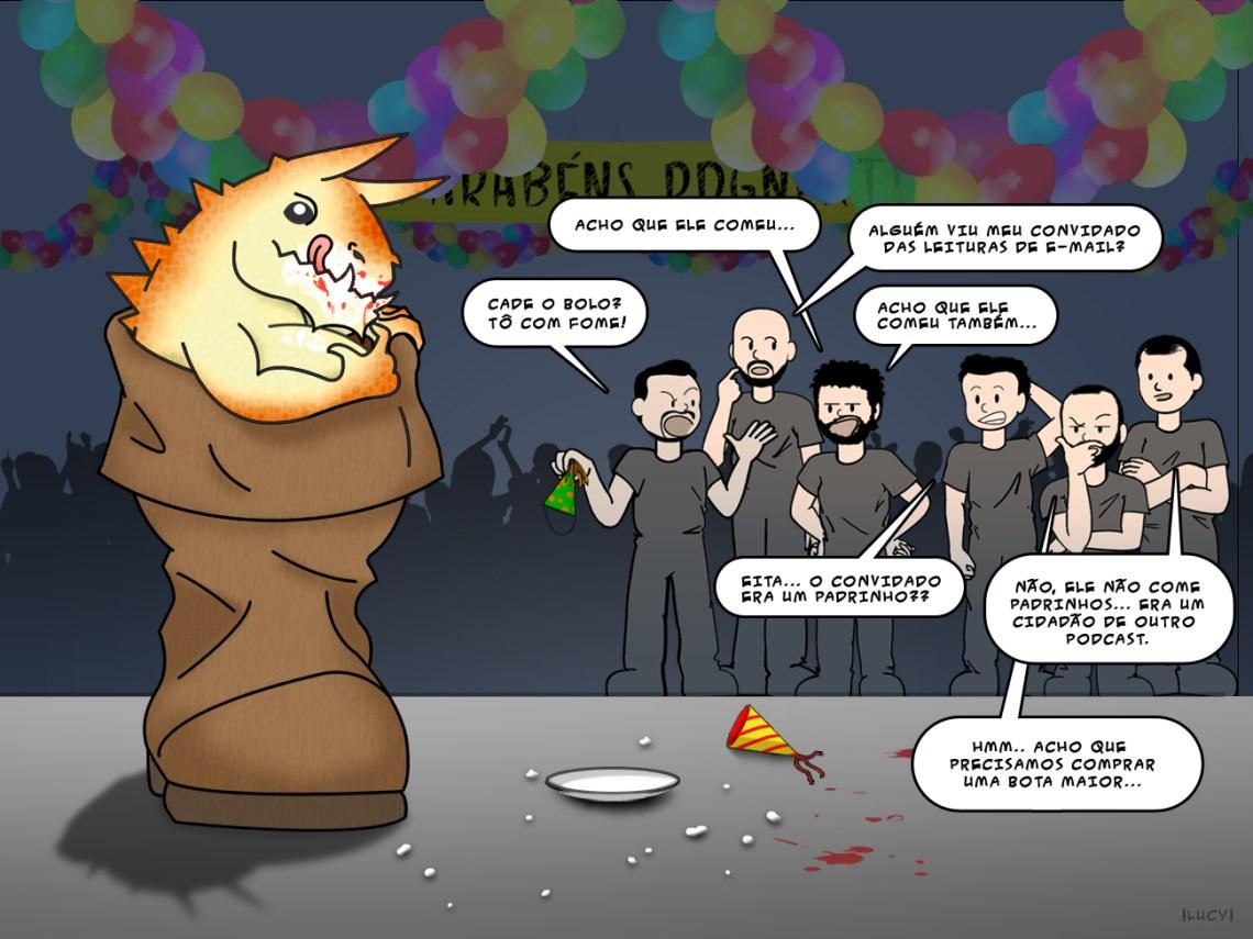 Arte de Aniversário do RPG Next de 2 anos - por Lucy