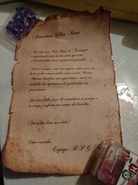 Carta de Jonathan Villas Boas