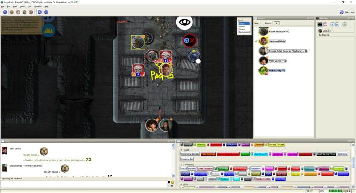 Imagem do Maptool - Combate com Ghouls