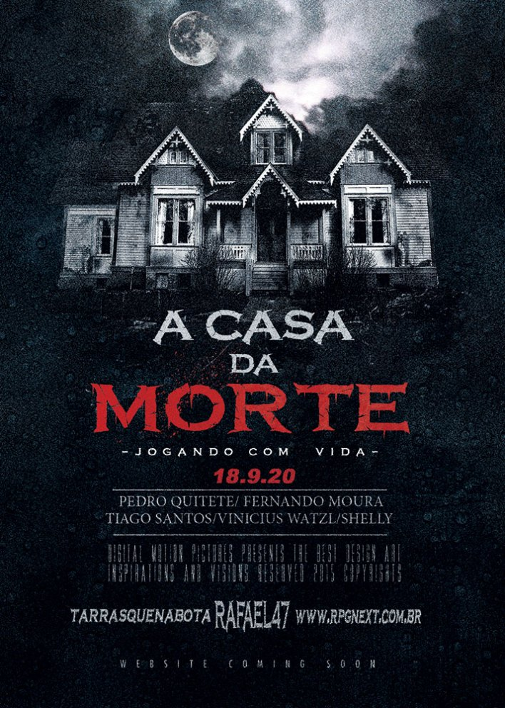 Poster A Casa da Morte, por Tales Aguiar