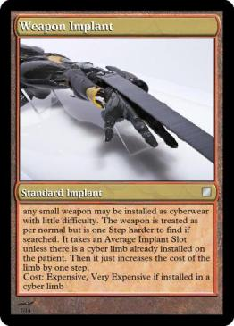 Weapon Implant