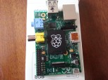 The Pi itself and SD card - pretty small!