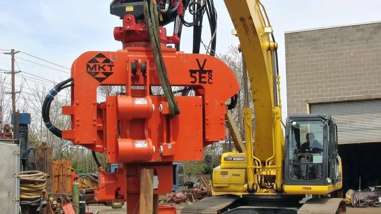 Vibratory Hammer with Side Clamp