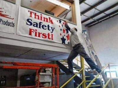Think Safety First Funny Picture For Facebook