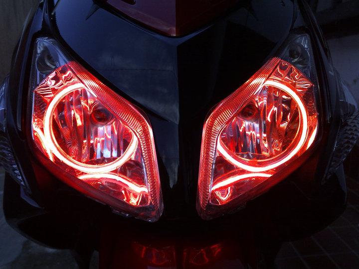 Pasang Lampu Angel Eye di Motor