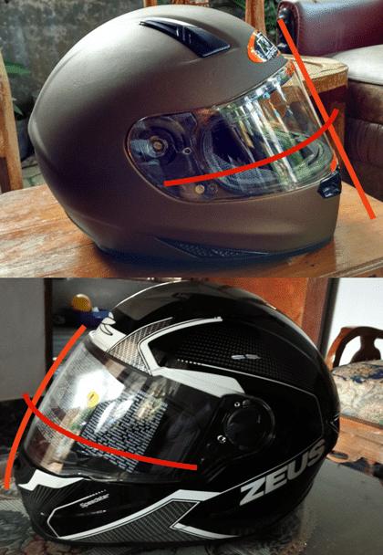 flat visor vs flat cembung