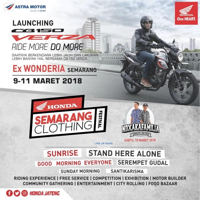 Launching Honda CB150 Verza di Semarang