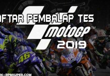 Daftar Pembalap Tes MotoGP 2019