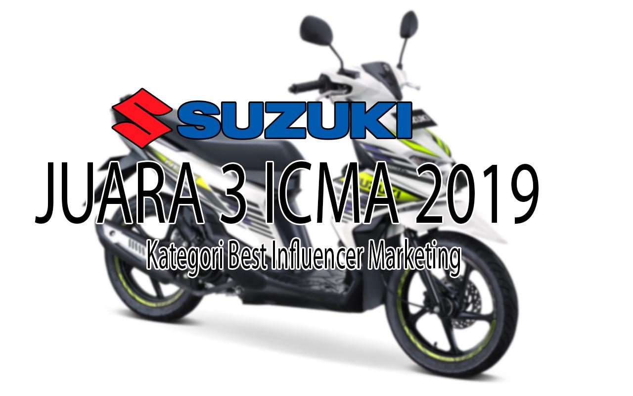 Suzuki Juara 3 Best Marketing Award ICMA 2019