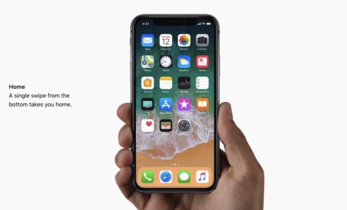 iphone x home gesture