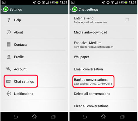 Transfer Whatsapp Messages