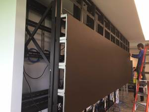 Pepsi Conference Room Screen install