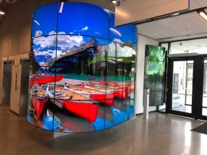 Humber Barret Centre entryway display