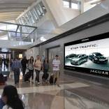 LAX Screen with Jaguar Ad